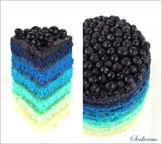 Blueberry & Lemon Ombre Cake
