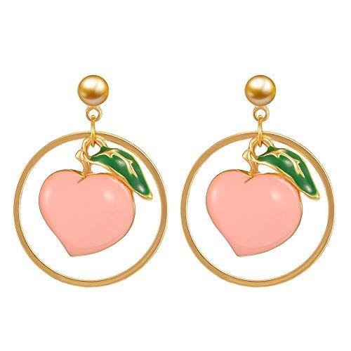 Red Apple Earrings Novelty Gift
