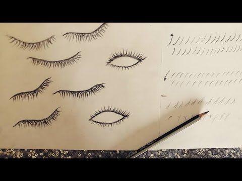 تعلم رسم الرموش بطريقة إحترافية للمبتدئين How To Draw Eyelashes Youtube Arabic Calligraphy Drawings Calligraphy