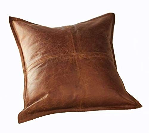 Outfit11 Lambskin Leather Pillow Cushion Cover In 2020 Cushions On Sofa Leather Pillow Leather Throw Pillows