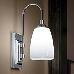 battery operated sconce light with led bulbs hang anywhere only from improvements. Black Bedroom Furniture Sets. Home Design Ideas