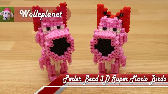 Perler Bead 3D Super Mario Birdo