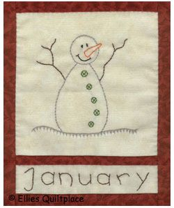 Snowman embroidery pattern
