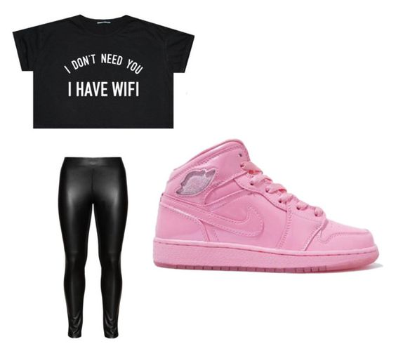 """nike air jordan outfits"" by perttypink on Polyvore featuring Studio"