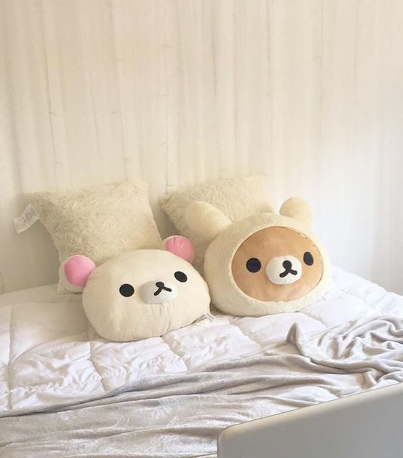 CUTE RILAKKUMA PILLOWS BEDDING BEDROOM INSPIRATION | SOYVIRGO.COM