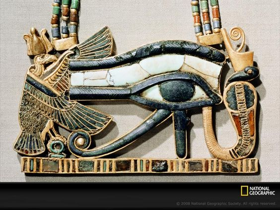 """A powerful symbol used to protect from evil, the ancient name for the Eye of Horus was """"udjat"""""""