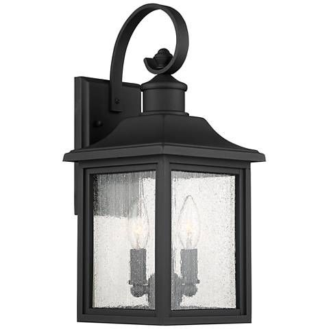 Moray Bay 17 3 4 High Black 3 Light Outdoor Wall Light 42f26 Lamps Plus Wall Lights Outdoor Walls Outdoor Lighting