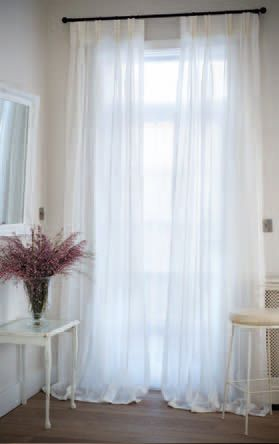 Heavy voiles: Elise Curtain Voiles are perfect for on bi-fold doors and large glazed areas, as this voile allows light into the room while diffusing extreme sunlight.