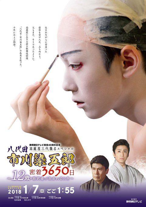 襲名のドキュメンタリー広告の八代目市川染五郎のかっこいい画像