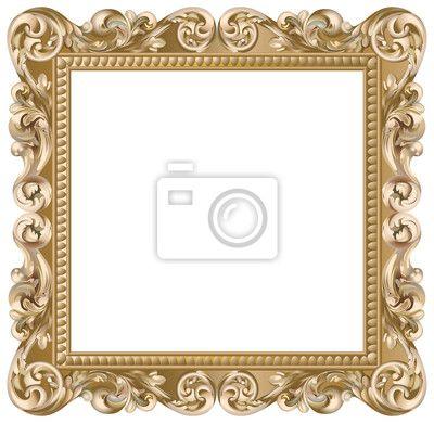 papier peint cadre baroque carr dor beaut baroque. Black Bedroom Furniture Sets. Home Design Ideas
