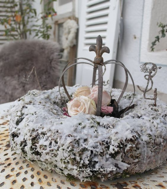 Shabby chic and i shabby chic diy und deko in wachs for Shabby chic weihnachtsdeko