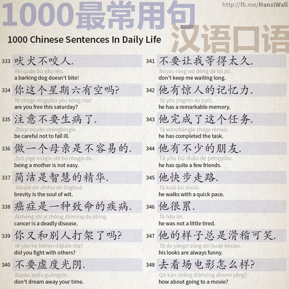 1000 Chinese Sentences In Daily Life Part 22