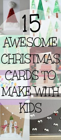 15 Awesome Christmas Cards to Make With Kids - You Baby Me Mummy:
