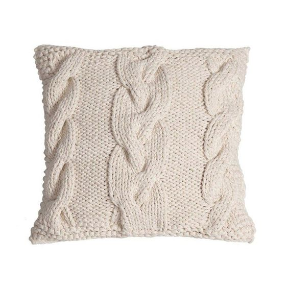 eu.Fab.com | Knitted Cushion Natural 40x40