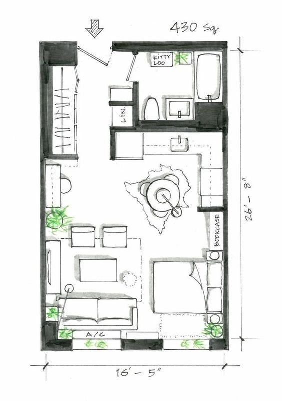 If You Re Looking For Inspiration For The Layout Of Your Studio Apartment Look No Further Small Apartment Plans Studio Apartment Floor Plans Apartment Layout