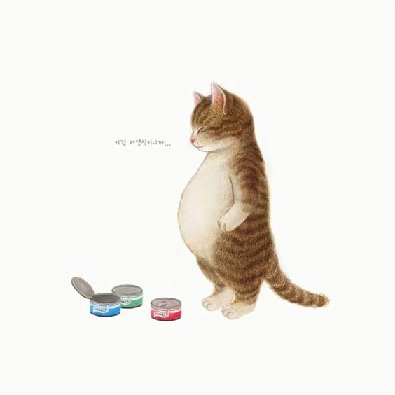 Chubby cat art