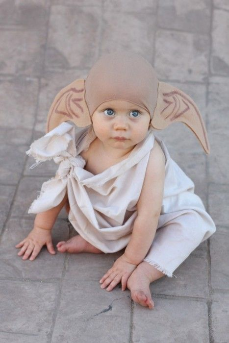 Future House Elf.: Babycostume, Baby Halloween Costume, Halloween Costumes, Baby Dobby, Harry Potter, Baby Costume, Dobby Costume, Costume Idea, Halloweencostume