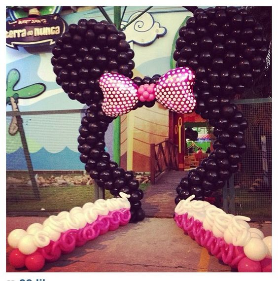 Pinterest the world s catalog of ideas for Balloon decoration minnie mouse