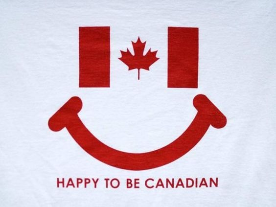 Happy to be Canadian: