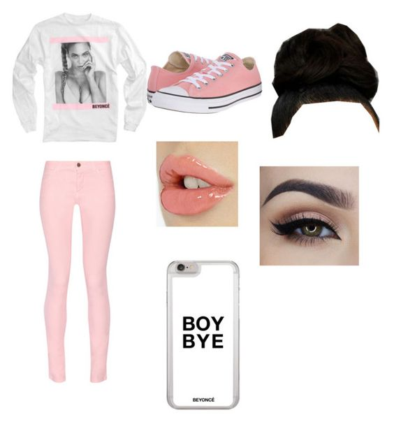 """""""Beyoncé"""" by promqueen12 ❤ liked on Polyvore featuring Maison Kitsuné and Converse"""