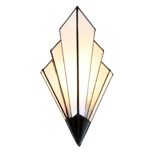 Ophelia Co Audubon 1 Light Wallchiere Wayfair Co Uk In 2020 Art Deco Wall Lights French Art Deco Art Deco Lighting
