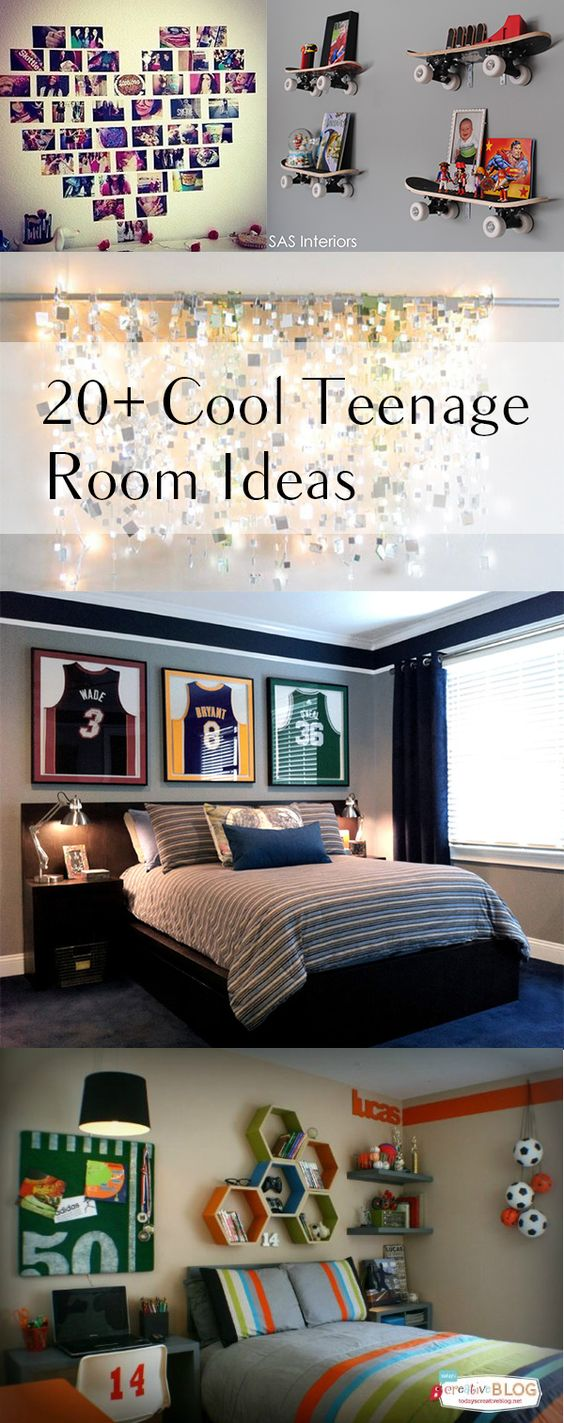 20 cool teenage room decor ideas shelf ideas skateboard and for the for Cool shelving ideas for bedrooms