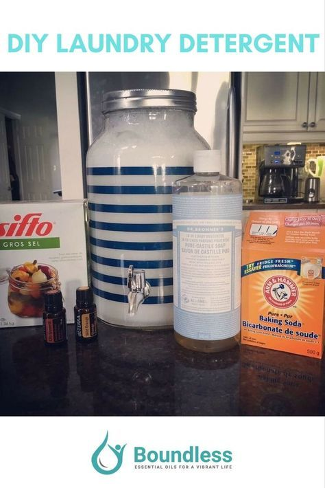 Diy Laundry Detergent 5 Ingredients All Natural Home Made