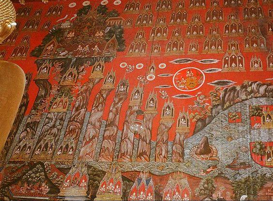 Biểu tượng của đỉnh núi Meru trong Hindu giáo được vẽ lại