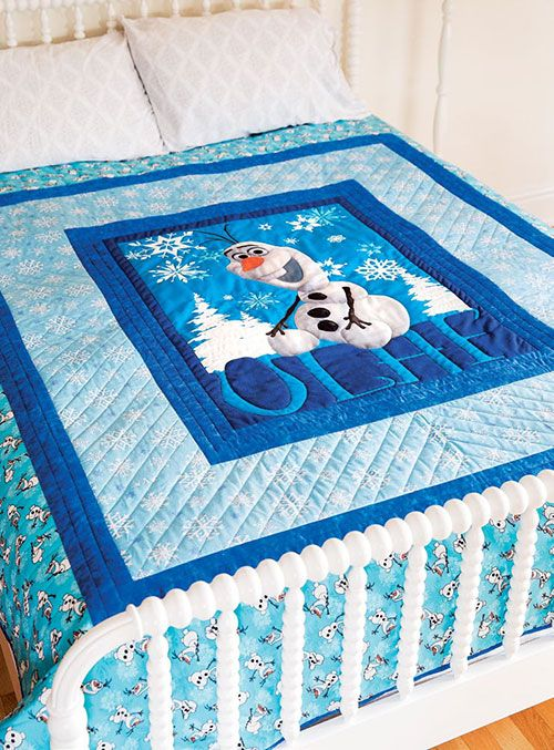 Olaf Panel Quilt Frozen Characters