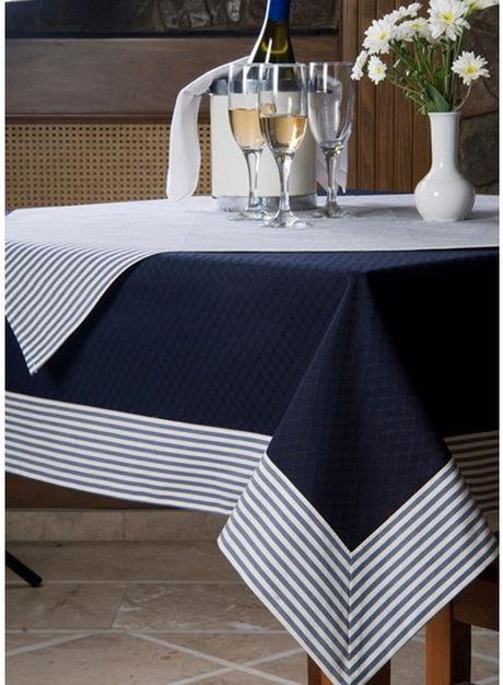Toalha de mesa azul:
