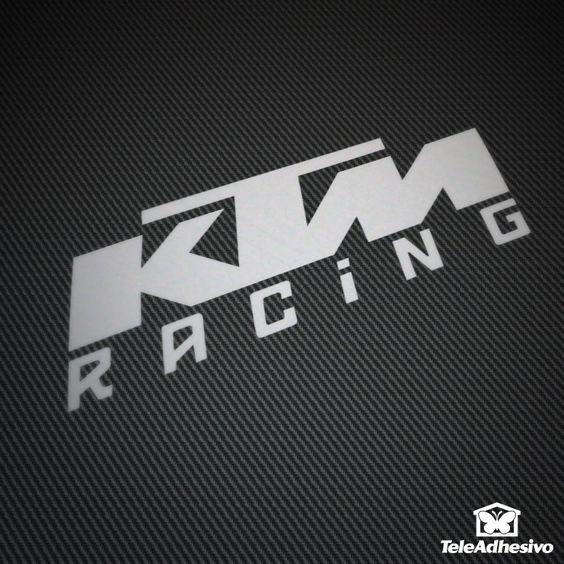Pegatina KTM Racing #KTM #pegatina #adhesivo #tuning #moto #TeleAdhesivo