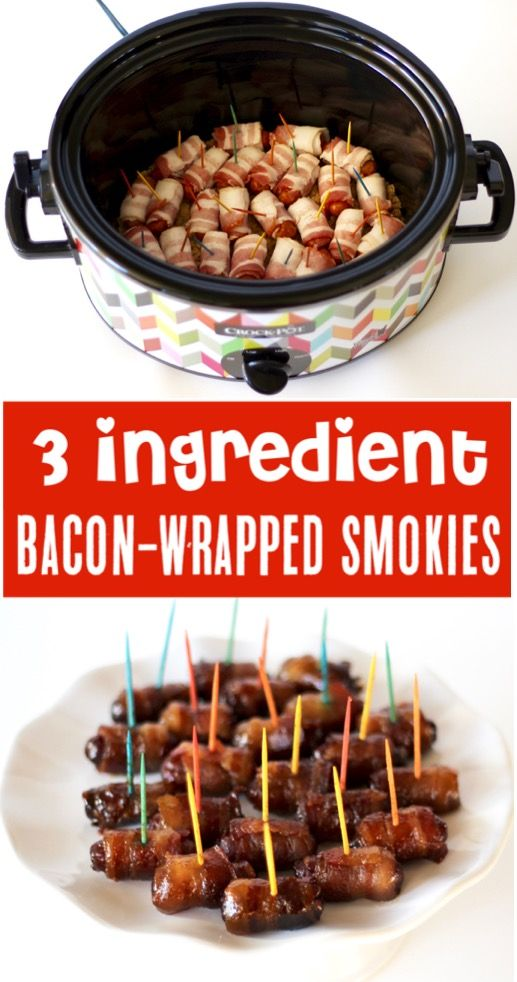 Appetizers for Party Easy Recipes - Crockpot Bacon Wrapped Smokies Recipe!