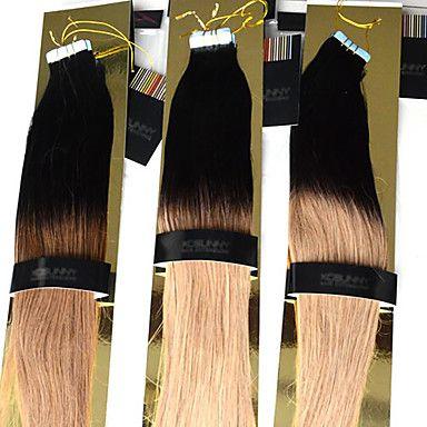 """estensioni del nastro dei capelli umani Ombre 12 """"-26"""" nastro ombre due toni nastro colla di pelle di tuffo colorante in 40pieces 2.5g / pc 100g 001 – EUR € 55.10"""