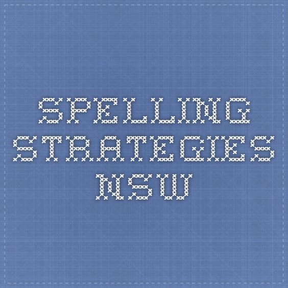 spelling strategies nsw