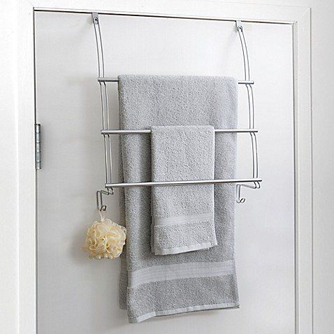 Store Plenty Of Towels While Taking Advantage Of Unused Bathroom Space With This Totally Bath Over The Door Towel Bar It Towel Bar Bath Towel Racks Towel Rack