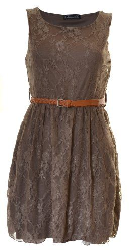 Brown lace dresses brown and maid of honor on pinterest for Brown lace wedding dress