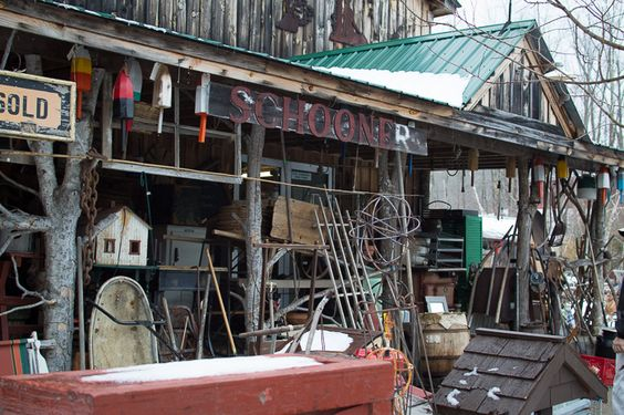 The rustic side of Maine - Renuko Style - iconic junkyard- Elmer`s Barn in Coopers Mills #MAINE