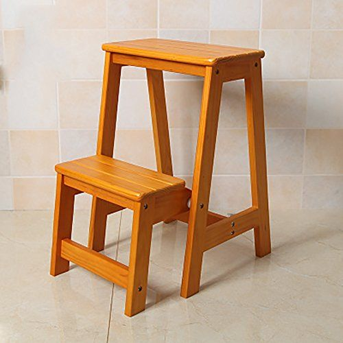 Ladder Chair High Wooden Bench Kitchen Step Stool Seat Foldable Multifunction Portable Household Color Ladder Chair Wooden Kitchen Bench Kitchen Step Stool