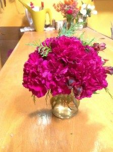 Carnations make a bright, impactful, and budget friendly centerpiece.
