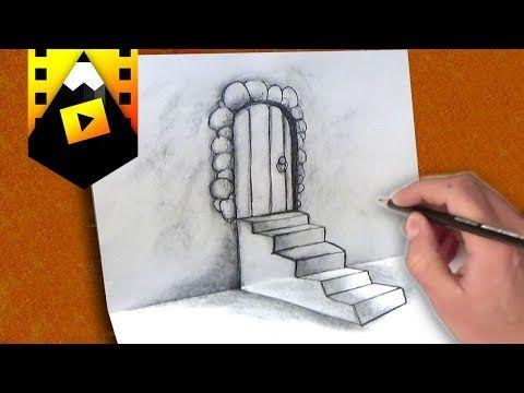 Como Dibujar Una Escalera En 3d Como Desenhar Uma Escada Em 3d Youtube Como Dibujar Como Dibujar Una Casa Dibujo De Minnie