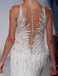 illusion back wedding dress - Szukaj w Google