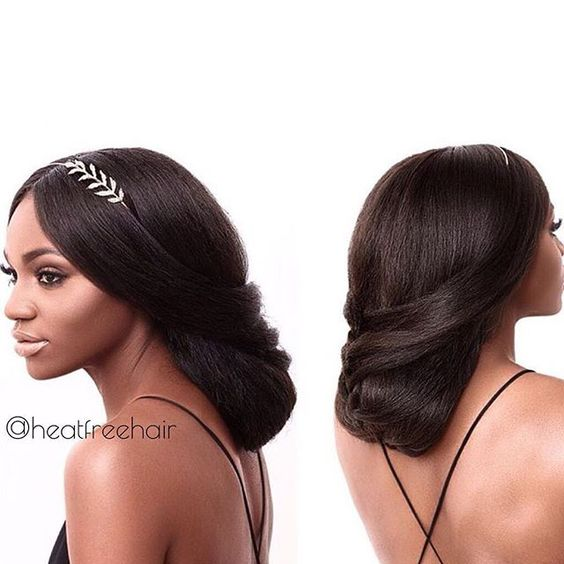 We absolutely LOVE this wedding look created with our For Koils collection! @asiyami_gold is wearing (3) 24 in bundles blown out and styled in a beautiful up-do. // What are your fave go-to styles this wedding season?