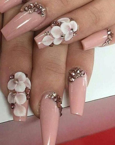 3d Nail Art Design 2018 Best 75 Design Acrylicnailart Rhinestone Nails Gorgeous Nails Cute Nails