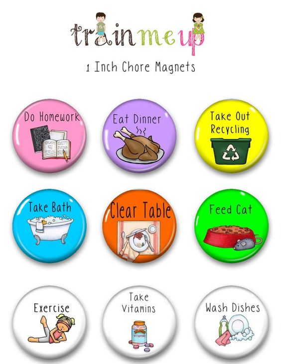 Kid Chore Magnet Chore-Magnets Magnetic Chore Chart by TrainMeUp