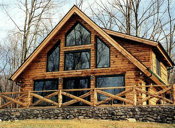 Log Homes Logs And Log Homes Exterior On Pinterest