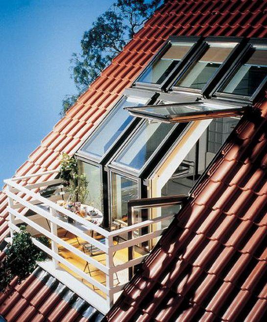 Attic/roof/deck design