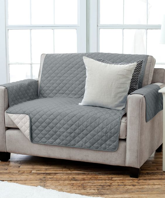 This Charcoal & Beige Reversible Furniture Protector by Home Fashion Distributors is perfect! #zulilyfinds