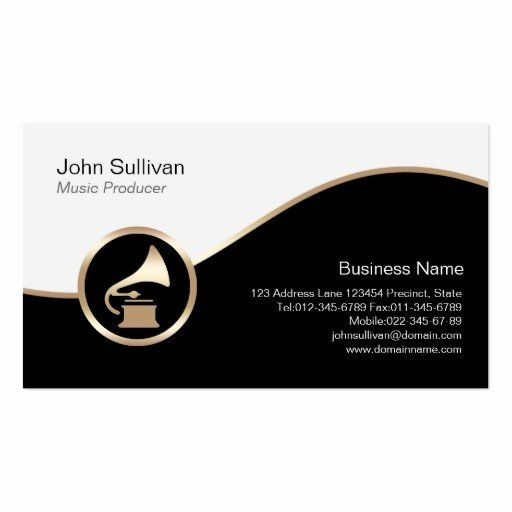 Music Producer Business Cards Lovely Music Producer Business Card Gold Gramophone Icon Music Producer Music Business