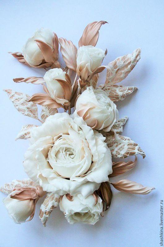 Свадебные украшения ручной работы. Композиция из роз