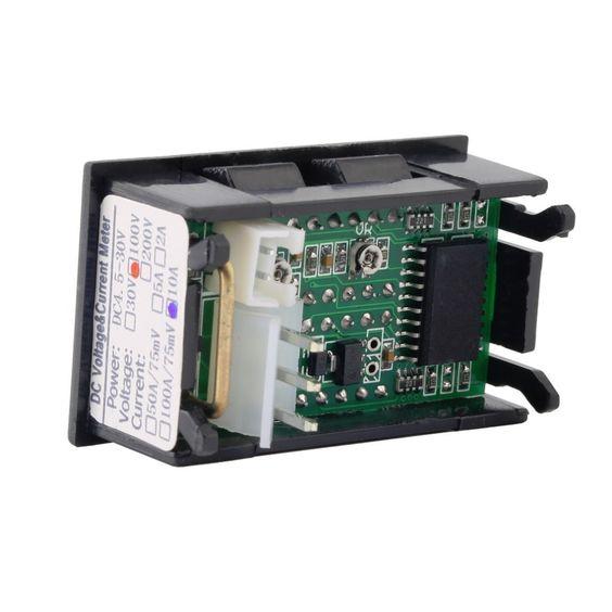 2.5-30V LED VERDE pannello voltmetro DC Batteria al litio Arduino pi Flux Workshop